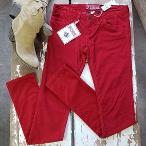 Victoria's Secret PINK Red Corduroy Skinny Pant